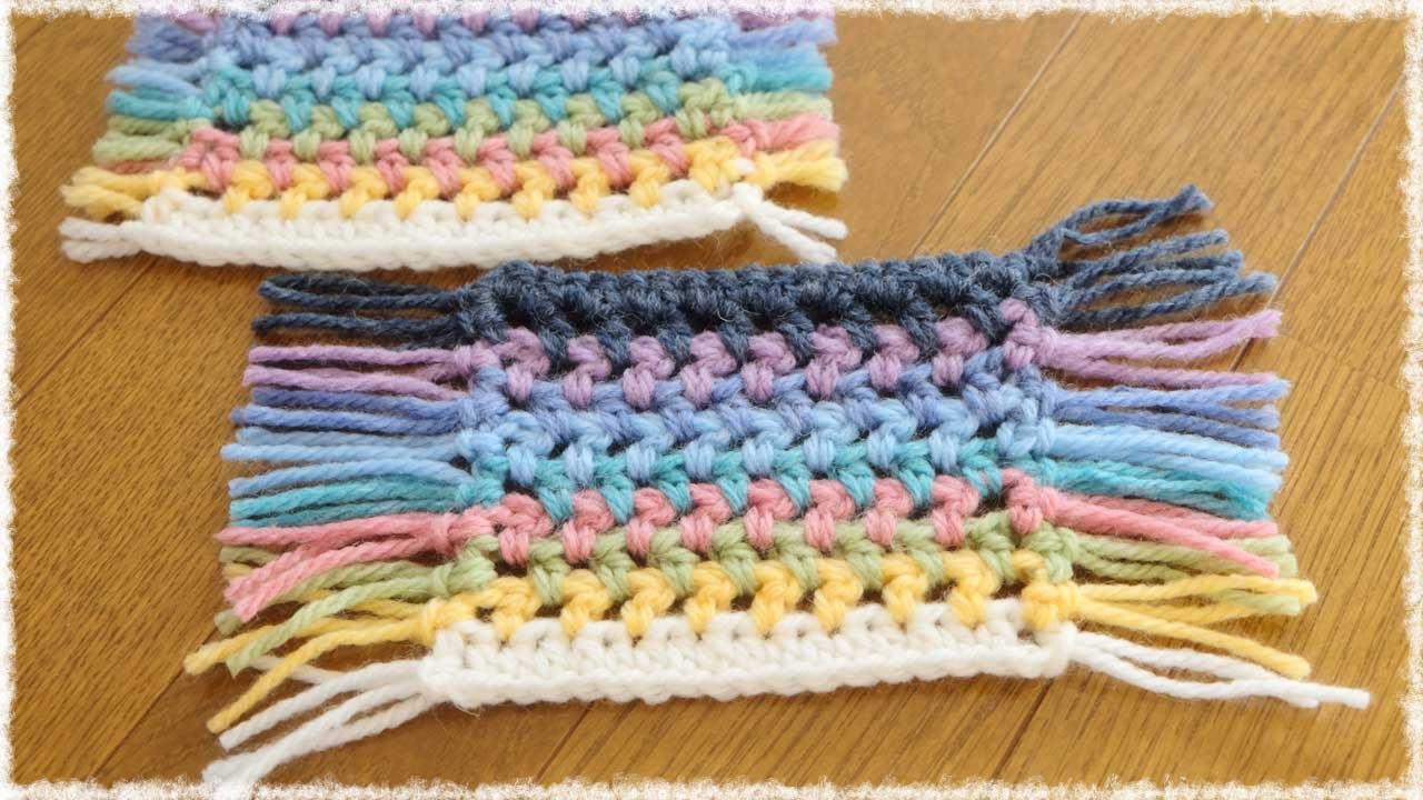 カラフルコースター【かぎ編み】の編み方・作り方 diy crochet colorful coaster , YouTube