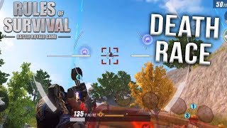 PLAYING THE NEW DEATH RACE GAME MODE IN RULES OF SURVIVAL!!