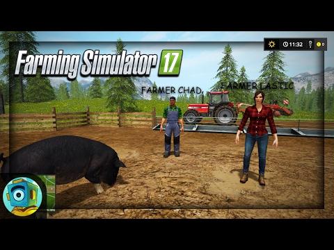 "Ryan, Lastic, and Chad Play Farming Simulator 2017!   ""The Pig Mission!"""