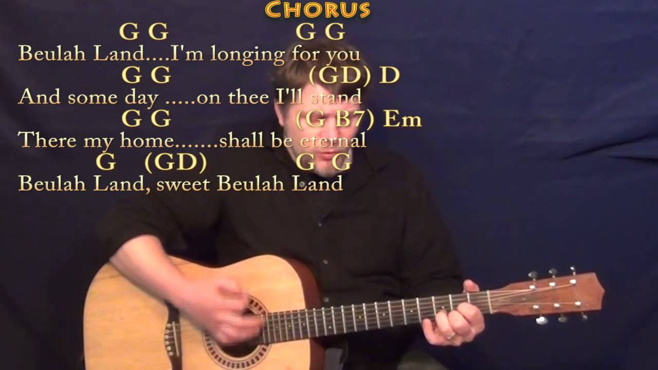 Beulah Land Squire Parsons Strum Guitar Cover Lesson In G With