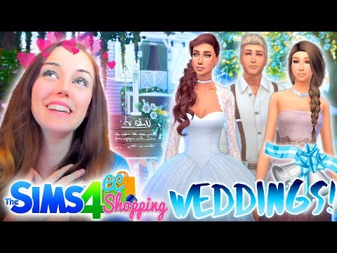 👰💍LET'S GO WEDDING SHOPPING!👰💍 (The Sims 4 CC Shopping!🛍)