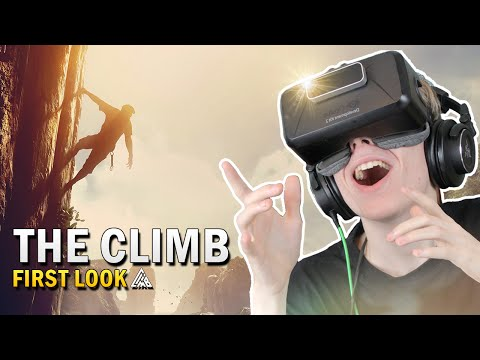 BEAUTIFUL VR CLIMBING GAME!   The Climb (Oculus Rift Gameplay)