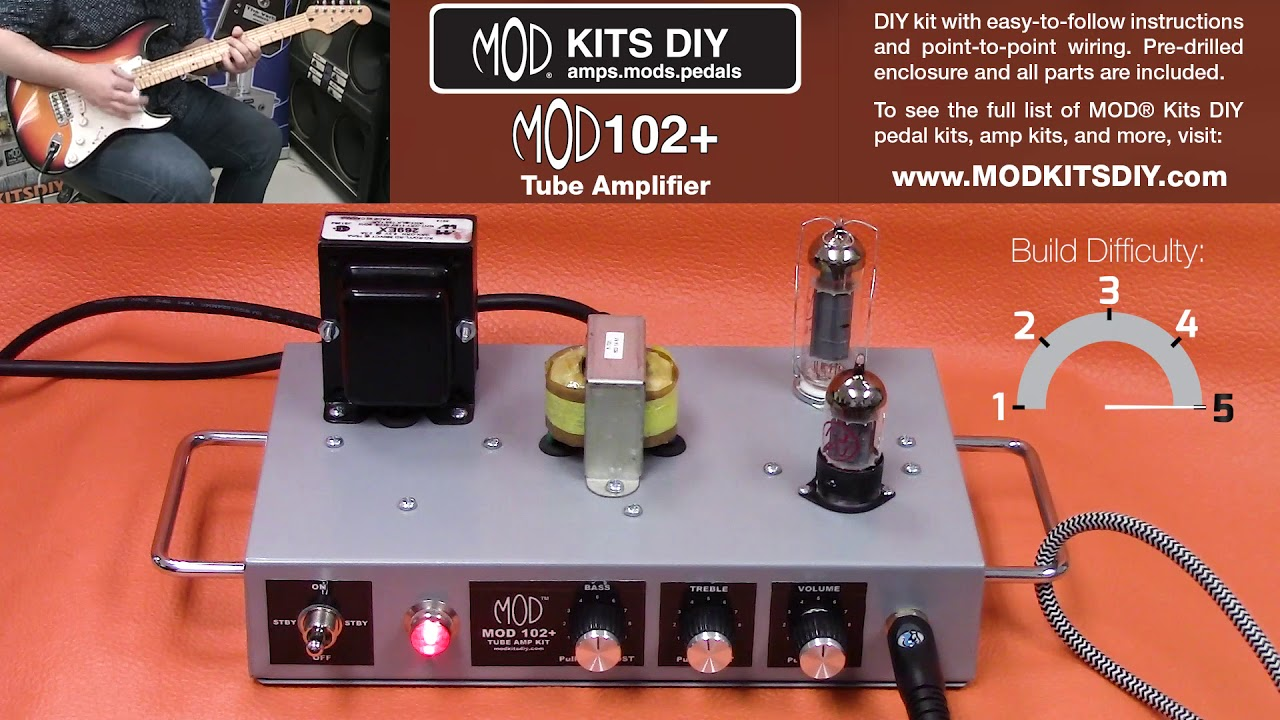 Mod kits diy mod102 amp demo 8w tube amplifier youtube mod kits diy mod102 amp demo 8w tube amplifier solutioingenieria