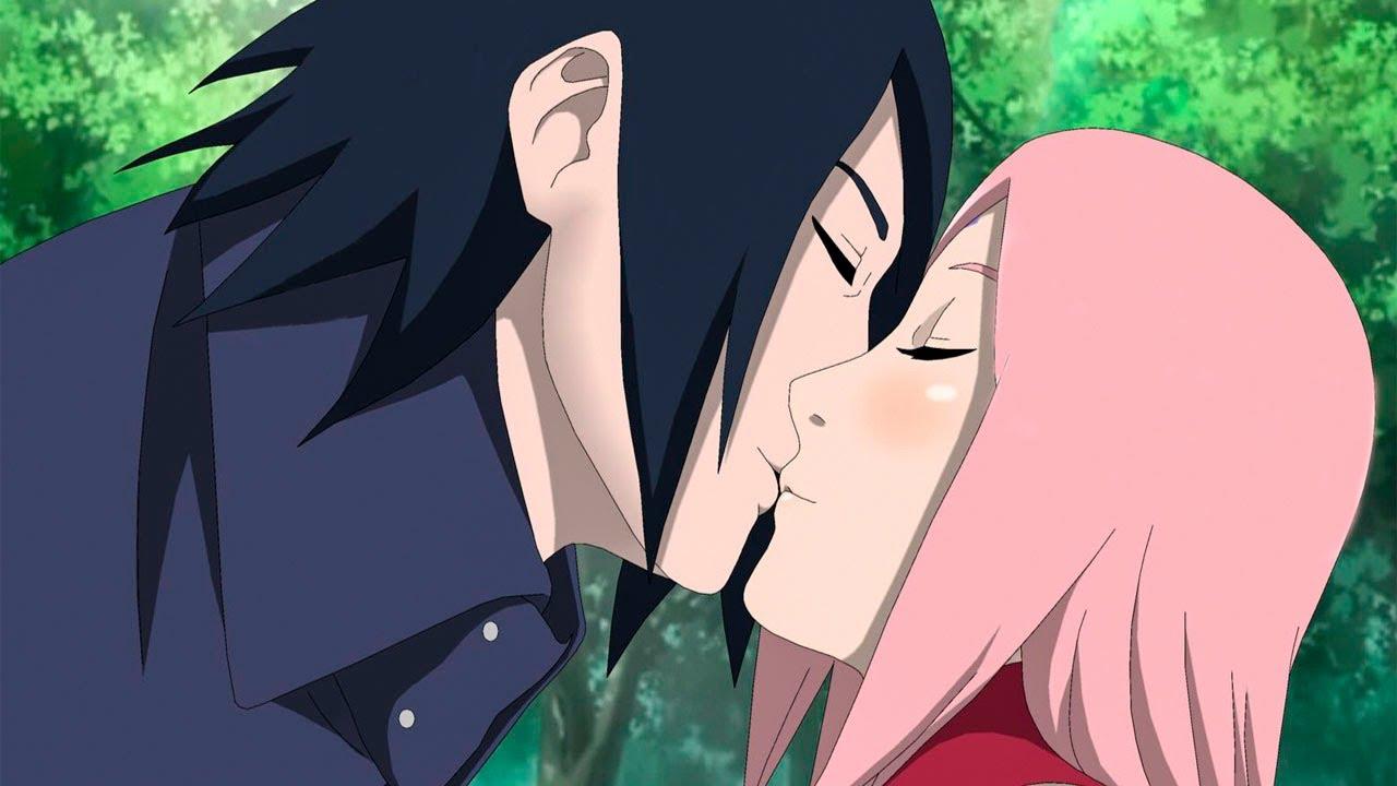 Саске впервые целует Сакуру в аниме Боруто