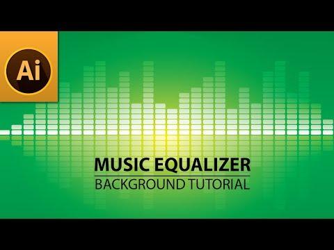 Music Equalizer Background - Illustrator Tutorial