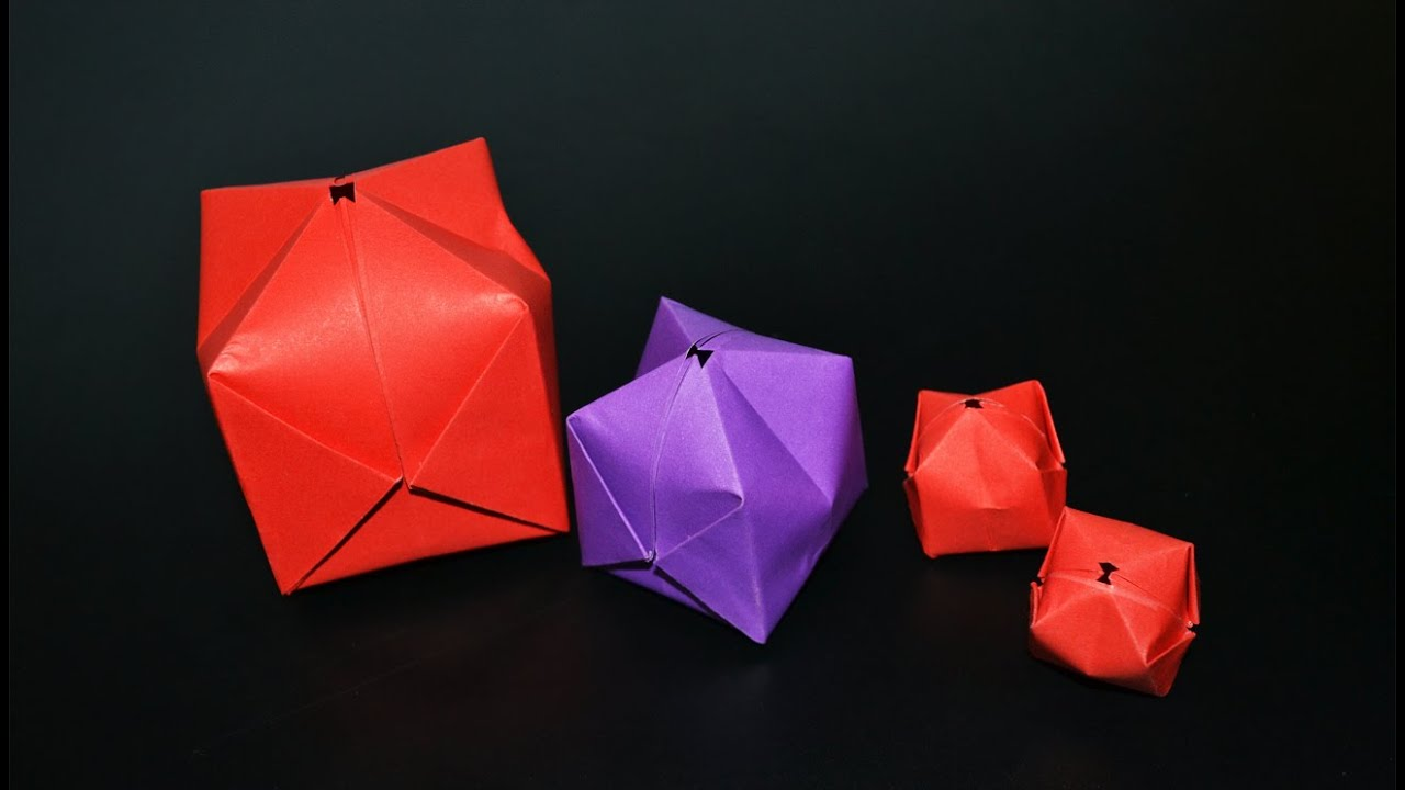 Origami Balloon Waterbomb Instructions In English Br Youtube