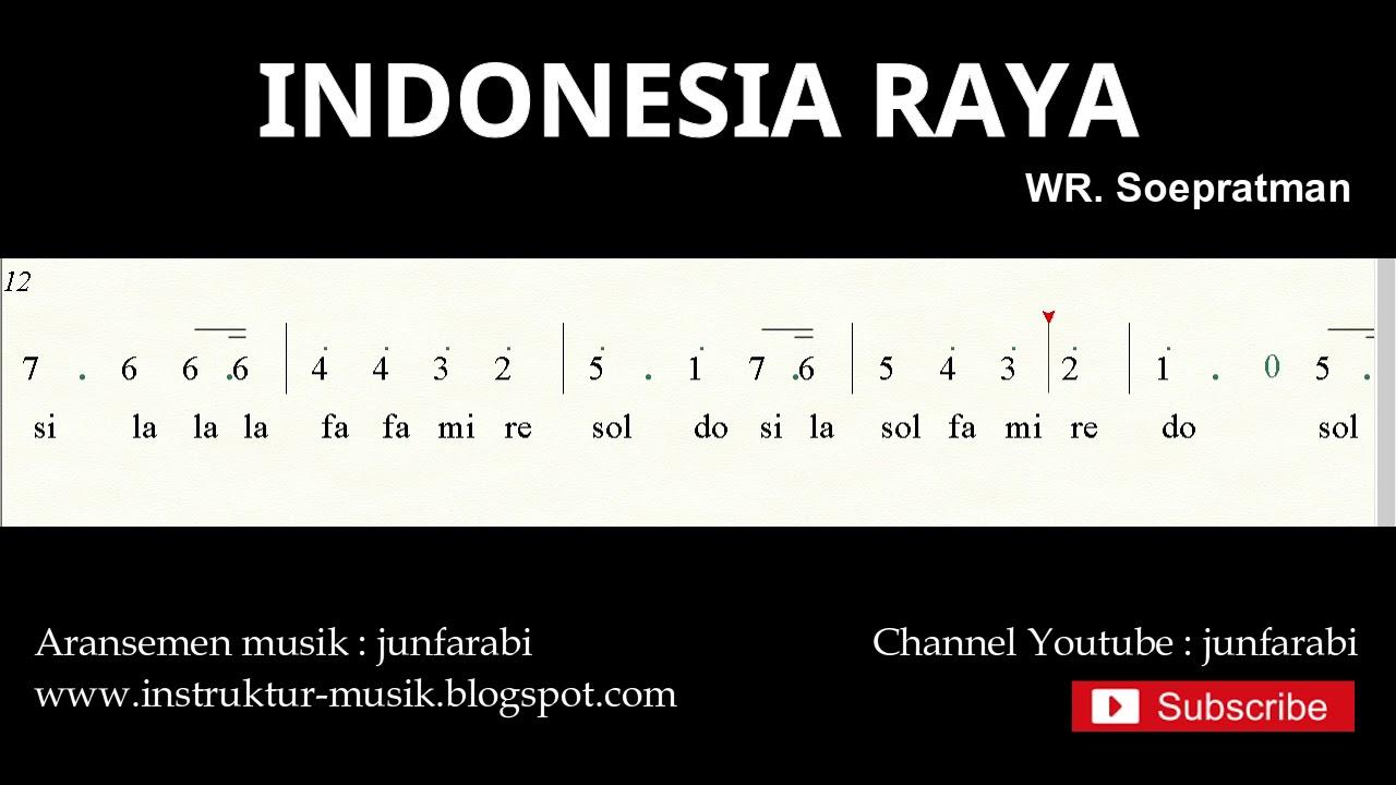 Not Angka Indonesia Raya D0 C Lagu Wajib Nasional Youtube