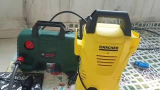 Máy rửa xe Bosch AQT 120 vs Karcher K2 chọn cái nào ? Which's one better ?