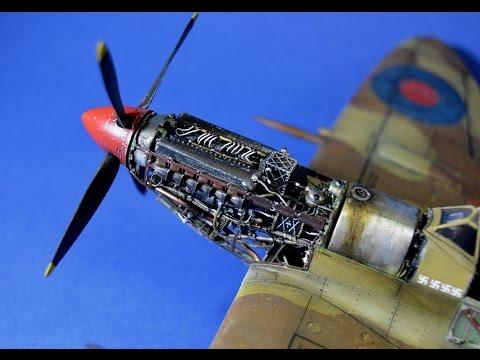 How to paint Spitfire Rolls-Royce Merlin engine - Eduard 1/48