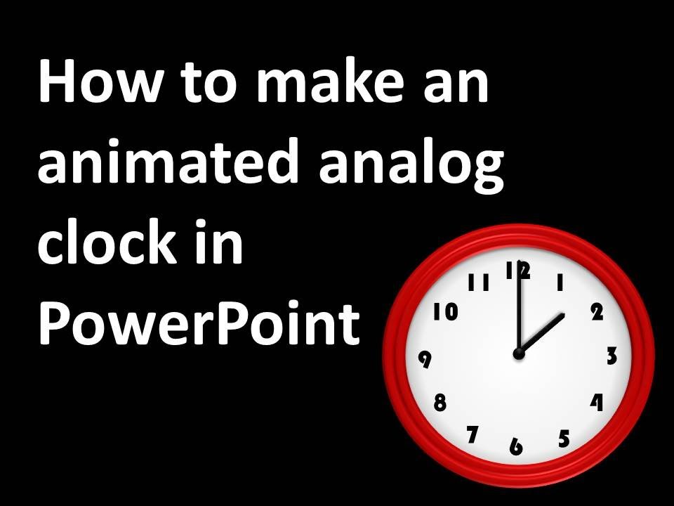 timer in powerpoint slide