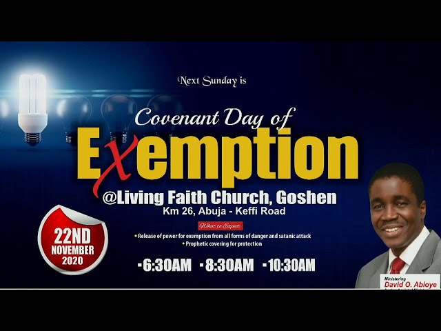 COVENANT DAY OF EXEMPTION | 1ST SERVICE | NOVEMBER 22, 2020