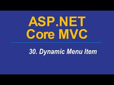 30. DYNAMIC MENU ITEM - Asp.Net CORE MVC