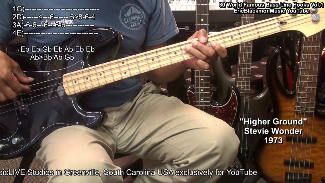 30 World Famous Bass Guitar Riffs And Memes With TABS With Eric Blackmon  EEMusicLIVE