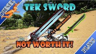 ART OF ARK - TEK SWORD VS METAL SWORD!