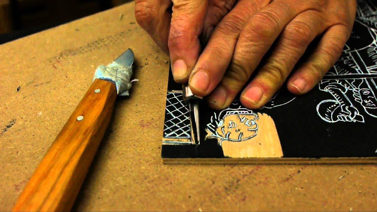 Technique de la gravure sur bois - MICG - YouTube