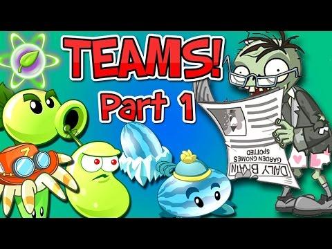 Plants vs. Zombies 2 it's about time: Team Plants vs Newspaper Zombie Part 1