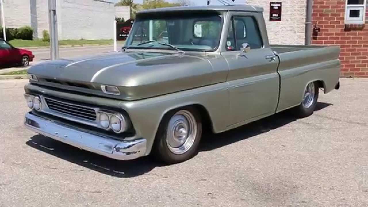 1964 Chevrolet Fleetside Shortwide Resto Mod Pick Up For Sale383 1966 Chevy C10 Strokerrair Conditioning