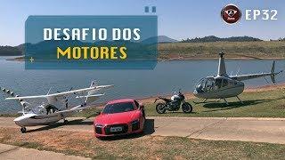 Corrida entre Avião, Carro, Helicóptero e Moto. Quem chega Primeiro? Desafio dos Motores