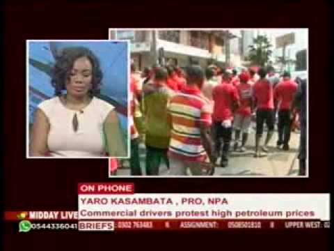 MiddayLive - NPA Responds To Taxi Driver's Demonstration - 3/12/2014