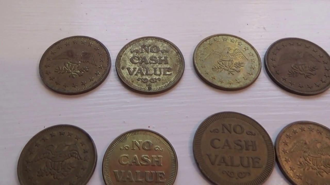 Big and Small No Cash Value Eagle Tokens
