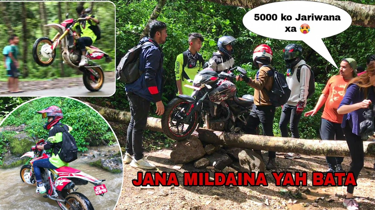 ALMOST GOT 5000 FINE ENTERING RESTRICTED AREA || STUCKED OUR BIKE || PART 2  @Lakpa Sherpa