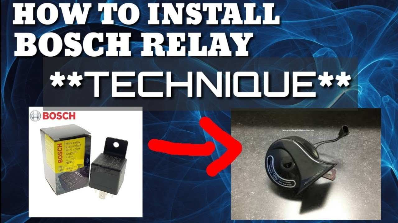 How To Install Bosch Relay