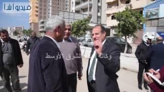 بالفيديو: الدكتورمحمد سلطان محافظ الأسكندرية يتابع تجهيز مدخل الدوليxA