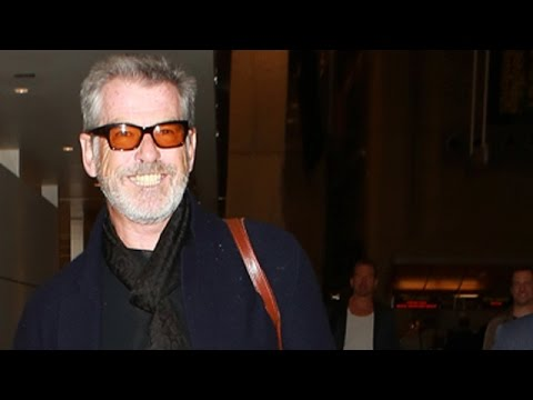 Pierce Brosnan Debuts a Goatee at the Golden Globes  and ...