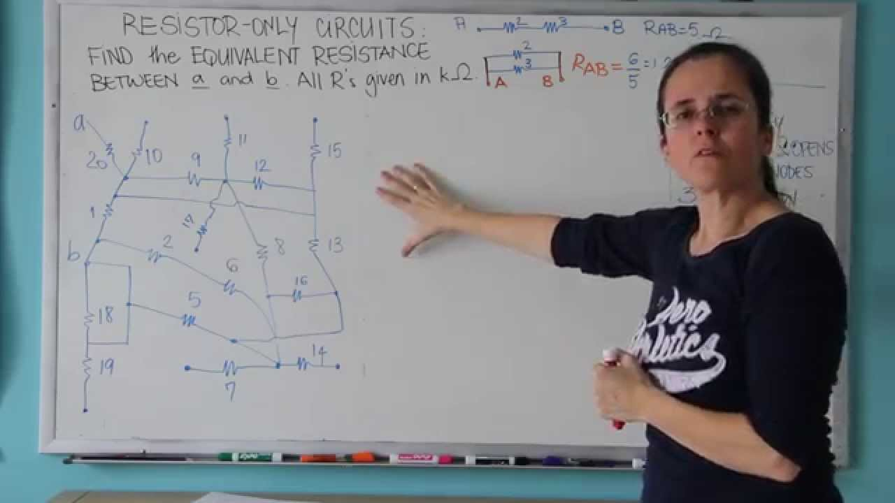 Find Equivalent Resistance For A 20 Resistor Circuit Youtube In This