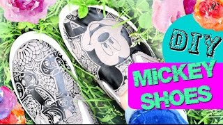 DIY Trendy Iron On Mickey Shoes