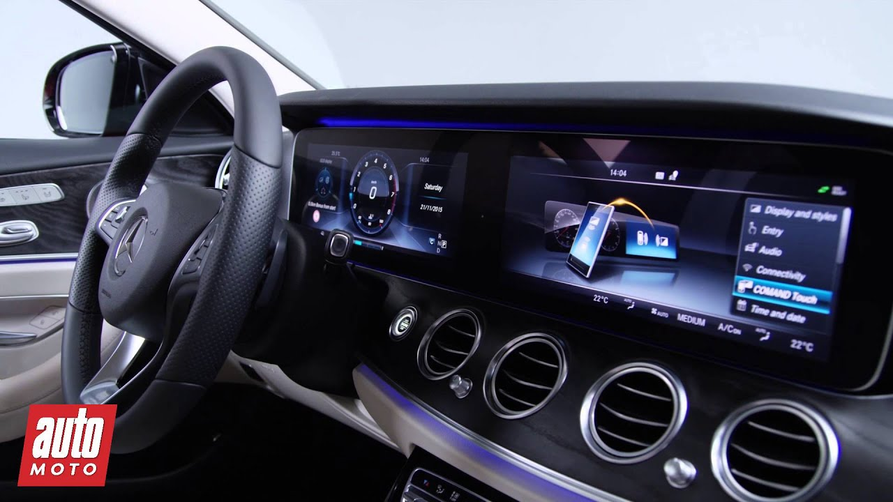 Mercedes classe e 2016 l 39 int rieur en d tail youtube for Interieur mercedes classe a