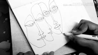 Video Abstract/ face/ portrait drawing/ line art download MP3, 3GP, MP4, WEBM, AVI, FLV Agustus 2018