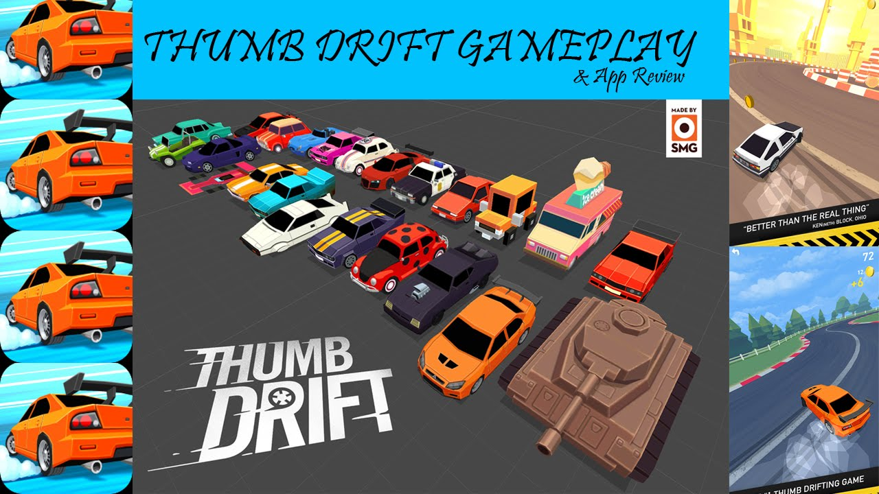 Thumb Drift Furious One Touch Car Racing Gameplay Review
