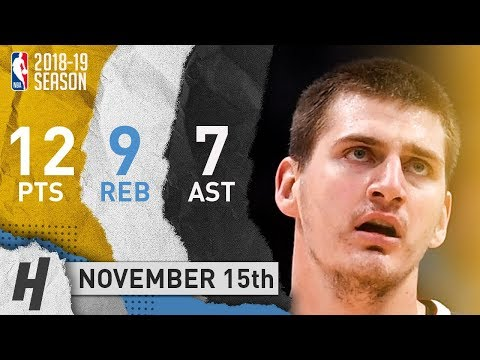 Nikola Jokic Full Highlights Nuggets vs Hawks 2018.11.15 - 12 Pts, 7 Ast, 9 Rebounds!