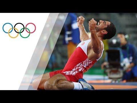 Akgul wins mens heavyweight wrestling gold