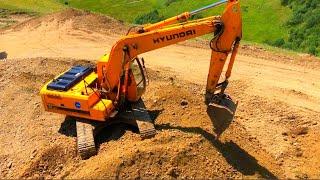 Экскаватор Копает Горы Чтобы Сделать Дорого | Excavator Hyundai