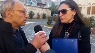 Anna Livrieri ricevuta dal Commissario C.D.P.  Bartolo Cozzoli