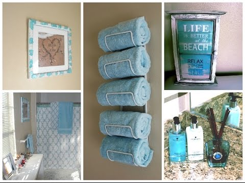 Small Bathroom Makeovers Diy diy small bathroom makeover relax inspired design ideas - youtube