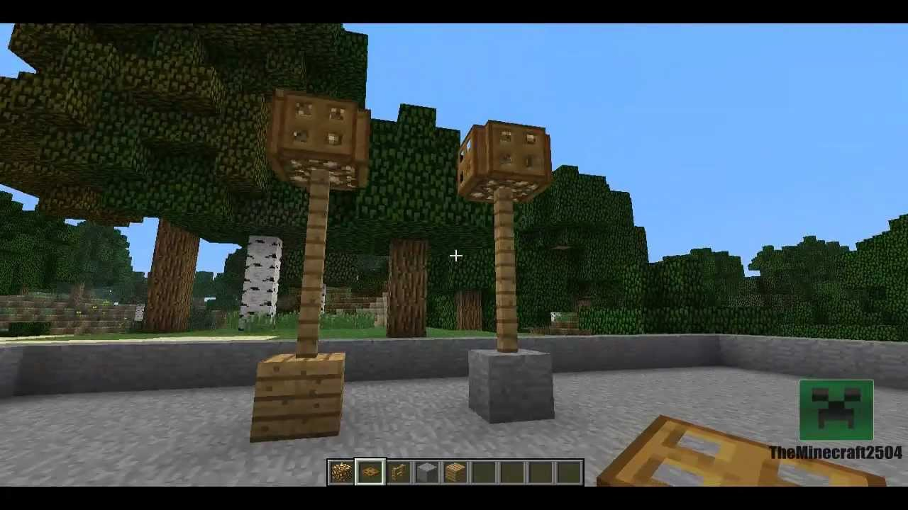 Minecraft Poradnik Uliczne Lampy Youtube