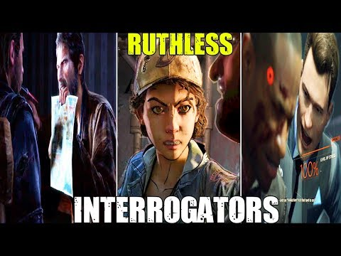 Who's The Most Ruthless Interrogator? ( Clementine, Joel, Connor ) The Walking Dead / TLoU / DBH