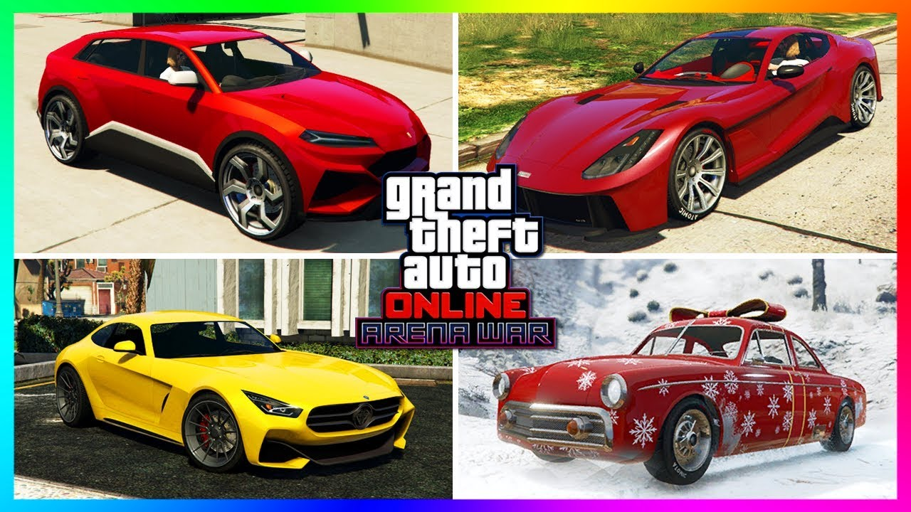 GTA Online Arena War DLC Update - ALL Unreleased Cars, NEW Vehicles, Christmas 2018 Content & MO