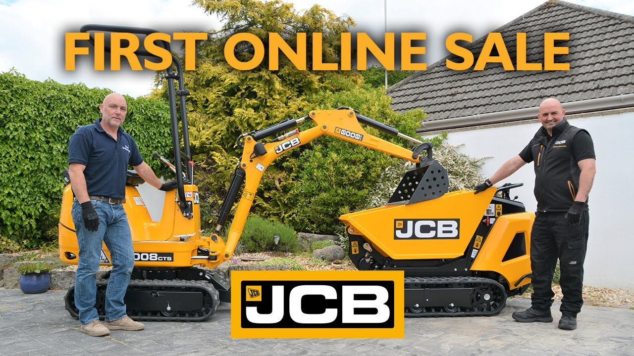 JCB's First Online Sale - Focal Landscapes' 8008 Micro and HTD-5 Dumpster