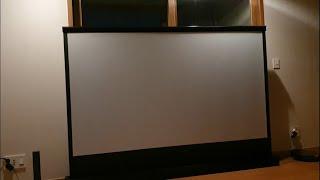 청담자이 한강뷰 거실에 150만원 전동 빔 스크린 설치
