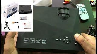 UNIC LED Projector Mini UC-46 Home Theater URDU Review Pakistan M-Tech