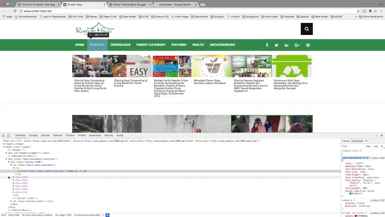 Tutorial: Mengganti Warna Menu dengan CSS - YouTube