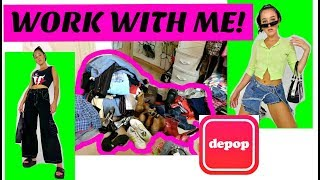 WORK WITH ME FOR THE DAY! DEPOP & RESELLING TIPS ~