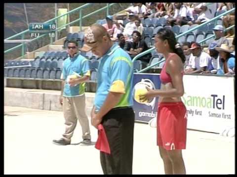 South Pacific Games 2007  Beach Volleyball Fiji vs Tahiti GM