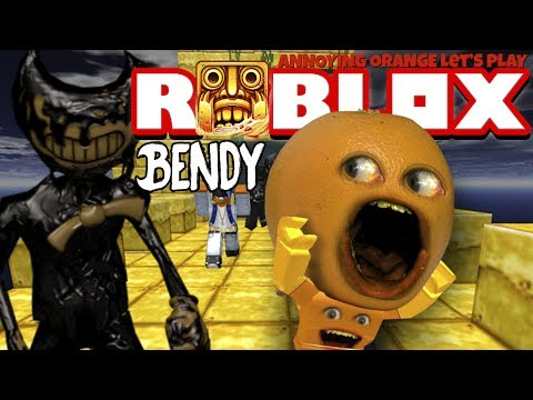Annoying Orange Plays - ROBLOX: Temple Run 2 - Attack of Bendy!