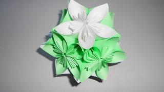 Цветы из бумаги своими руками кусудама шар(Цветы из бумаги своими руками кусудама. Как из цветов оригами собрать шар кусудаму. Кусудама для начинающих..., 2016-11-30T09:57:50.000Z)