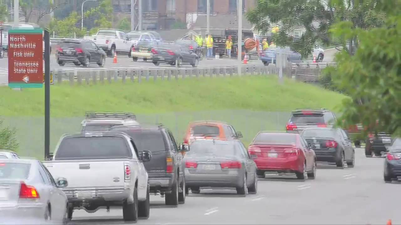 Emergency bridge repair slows traffic on I-40 west at Charlotte
